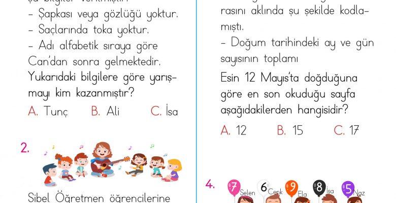 1. Sınıf Soruya Gel Problemleri – 1