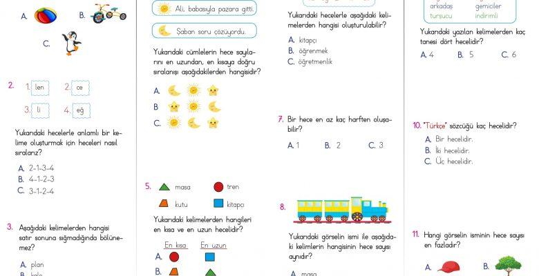 2. Sınıf Hece Bilgisi Testi – 1