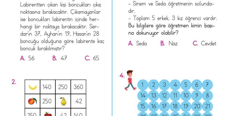 3. Sınıf Soruya Gel Problemleri – 1