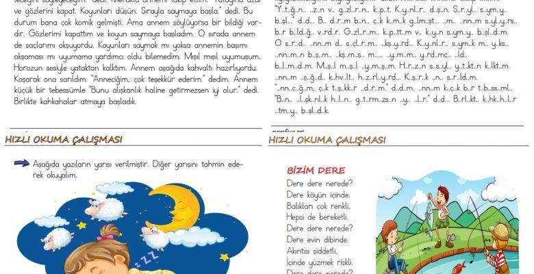 1. Sınıf Hızlı Okuma Etkinlikleri (5)