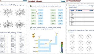 2. Sınıf Zıt Anlamlı Kelimeler-4