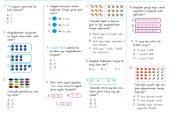 1. Sınıf Doğal Sayılar Kazanım Testi – 1