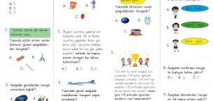 1. Sınıf Kelime Bilgisi Kazanım Testi PDF – 1