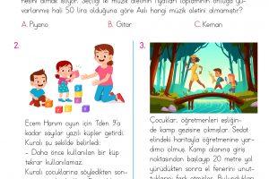 2. Sınıf Soruya Gel Problemleri – 3