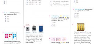 3. Sınıf Doğal Sayılar Testi (PDF)