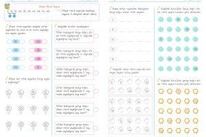 3. Sınıf Matematik Altışar Ritmik Sayma Etkinlikleri