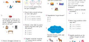 2. Sınıf Kelime Bilgisi Kazanım Testi PDF – 1