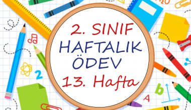 2. Sınıf Haftalık Ödev (1. Dönem 13. Hafta)