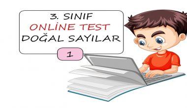 3. Sınıf Doğal Sayılar Online Test – 1