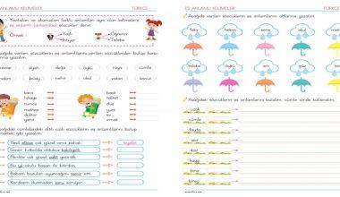 2. Sınıf Eş Anlamlı kelimeler- 4