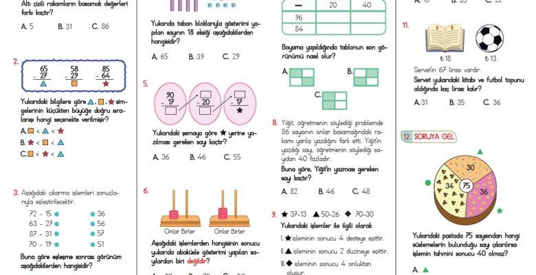 2. Sınıf Çıkarma İşlemi Testi – 2