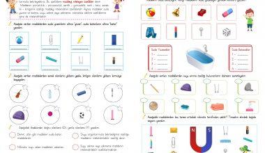 4. Sınıf Fen Bilimleri(Maddeyi Niteleyen Özellikler)