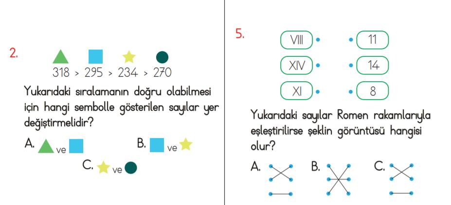 3. sınıf doğal sayılar genel tekrar testi