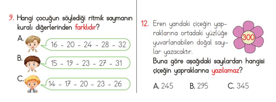 3. sınıf doğal sayılar test pdf