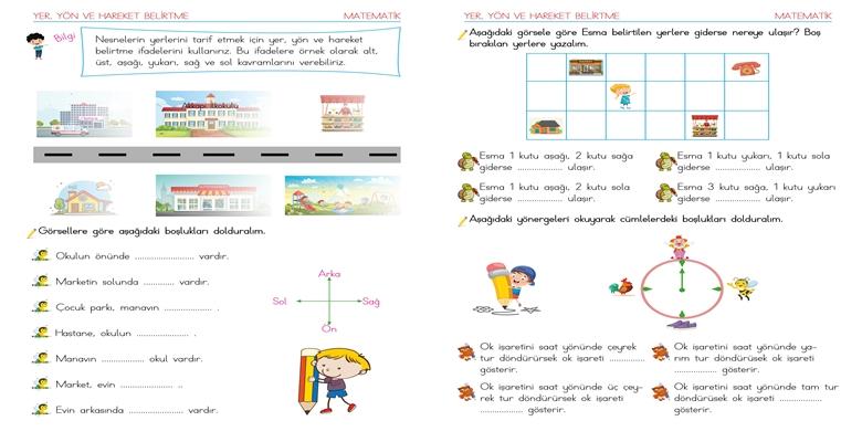 2. Sınıf Matematik Uzamsal İlişkiler