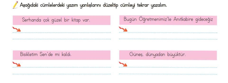 4 sınıf türkçe yazım kuralları