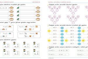 2. Sınıf Çarpma İşlemi Etkinlik Sayfaları