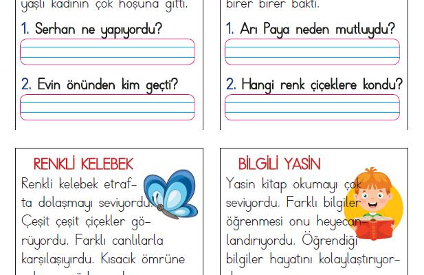 1. Sınıf Kısa Okuma Metinleri (6)