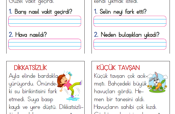 1. Sınıf Kısa Okuma Metinleri (8)