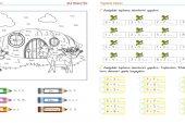 1. Sınıf Toplama İşlemi Etkinlikleri, Boyama Sayfaları – 4