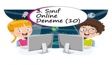 3. Sınıf Online Deneme Sınavı – 10 (2020 – 2021)
