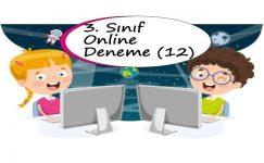 3. Sınıf Online Deneme Sınavı – 12 (2020 – 2021)