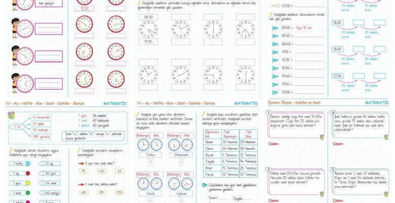 3. Sınıf Zamanı Ölçme Etkinlikleri