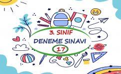3. Sınıf Deneme Sınavı – 17 (2020 – 2021)
