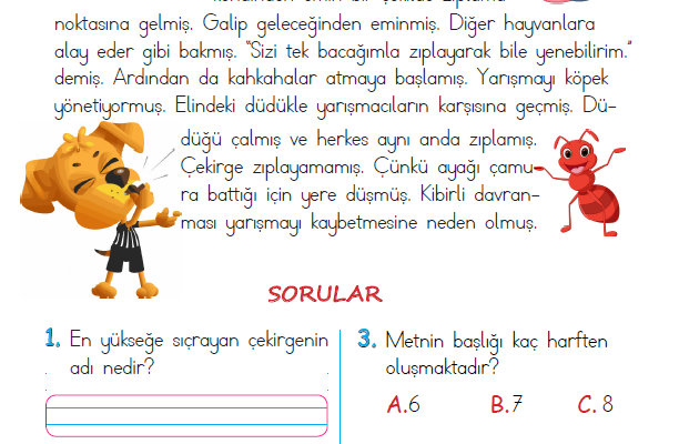 1. Sınıf Okuma Anlama Metni – 27 (Yarışma)