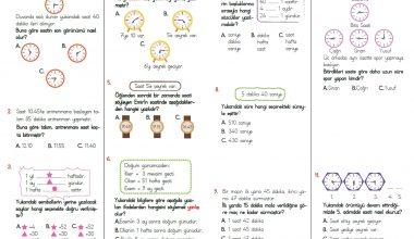 3. Sınıf Zamanı Ölçme Testi – 2