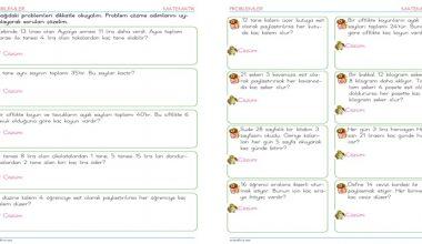 2. Sınıf Bölme İşlemi Problemleri – 1