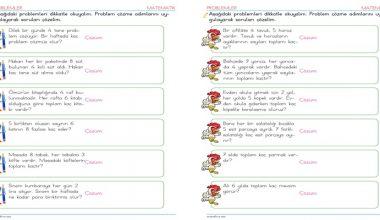 2. Sınıf Çarpma İşlemi Problemleri – 3