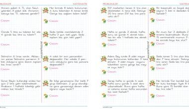2. Sınıf Çarpma İşlemi Problemleri – 4