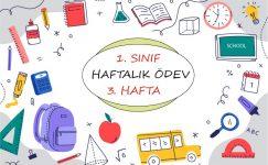 1. Sınıf Haftalık Ödev (1. Dönem 3. Hafta)