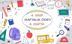 4. Sınıf Haftalık Ödev (1. Dönem 2. Hafta)